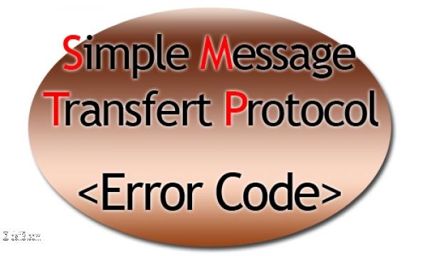 Code erreur SMTP